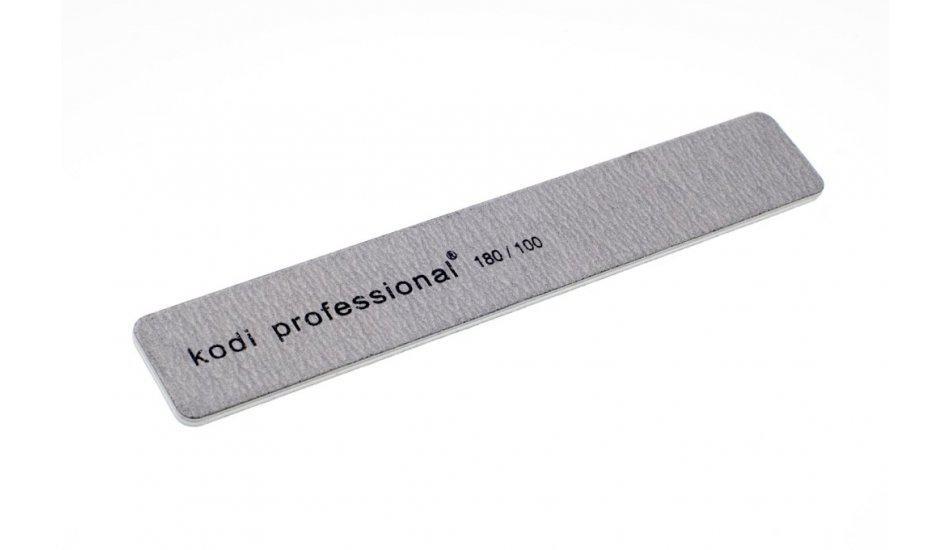 Пилка для ногтей Прямоугольная  Grey 100/180  KODI