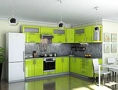 Кухня Гламур Лайм металлик
