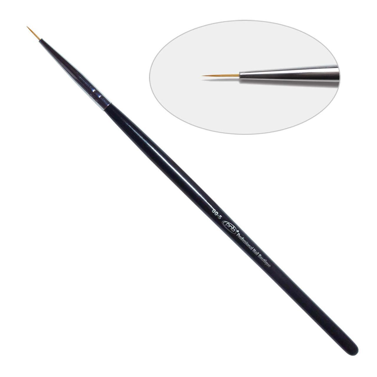 Кисть для дизайна круглая 00-s PNB, нейлон/ Nail Art Brush round 00-s, nylon