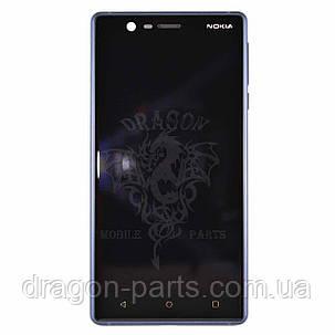 Дисплей Nokia 3 Dual Sim с сенсором TA-1032 Синий Tempered Blue, оригинал, фото 2