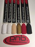 Цветная акриловая пудра PNB / Color Acrylic Powder (6 цветов), 2 г
