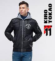 11 Kiro Tokao | Осенний бомбер с капюшоном 318 черный