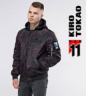 11 Киро Токао   Мужская куртка бомбер 3312 черный-красный