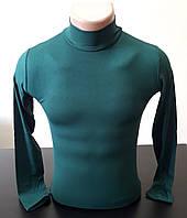 Гольф (водолазка) подростковый, вискоза, зеленый Размер 40-44
