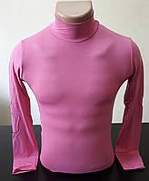 Гольф (водолазка) подростковый, вискоза, розовый