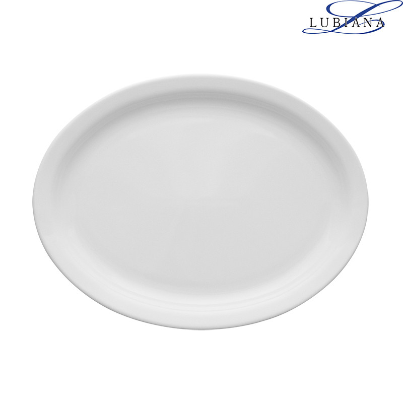 Блюдо фарфоровое овальное Lubiana Ameryka 250мм