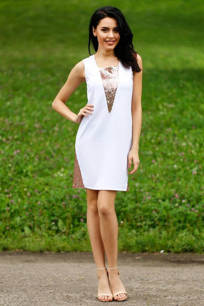 Белое платье AYGUL