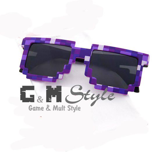 b50f6956dbcb Детские солнцезащитные очки Майнкрафт (Minecraft) фиолетовые ...