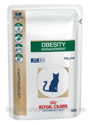 Влажный корм для кошек с избыточным весом, 100гр/ Роял Канин OBESITY FELINE Pouches, фото 2