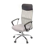 Кресло офисное Гилмор СН TILT серого цвета из ткани