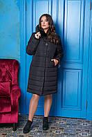 Зимняя куртка-пальто женская 4х цветах М-706 50-60 размеры, фото 1