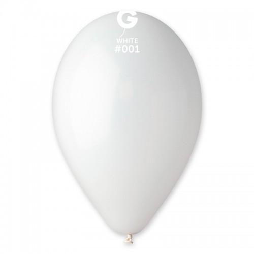 Кулька повітряний 10 дюймів (25 см) пастель БІЛИЙ