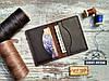 Кредитница мини кошелек карт холдер из натуральной кожи crazy horse