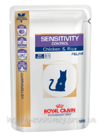 Влажный корм для кошек при пищевой аллергии или непереносимости, 100гр/ Роял Канин SENSITIVITY CONTROL
