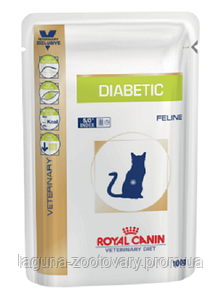 Упаковка 12шт х Влажный корм для кошек при диабете, 100гр/ Роял Канин DIABETIC FELINE Pouches