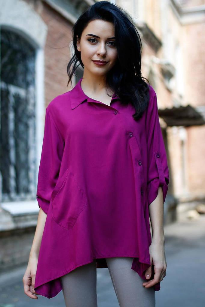 Фиолетовая рубашка Deborah
