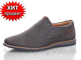 Шкільні туфлі-мокасини для хлопчика (р 33-22см устілка)