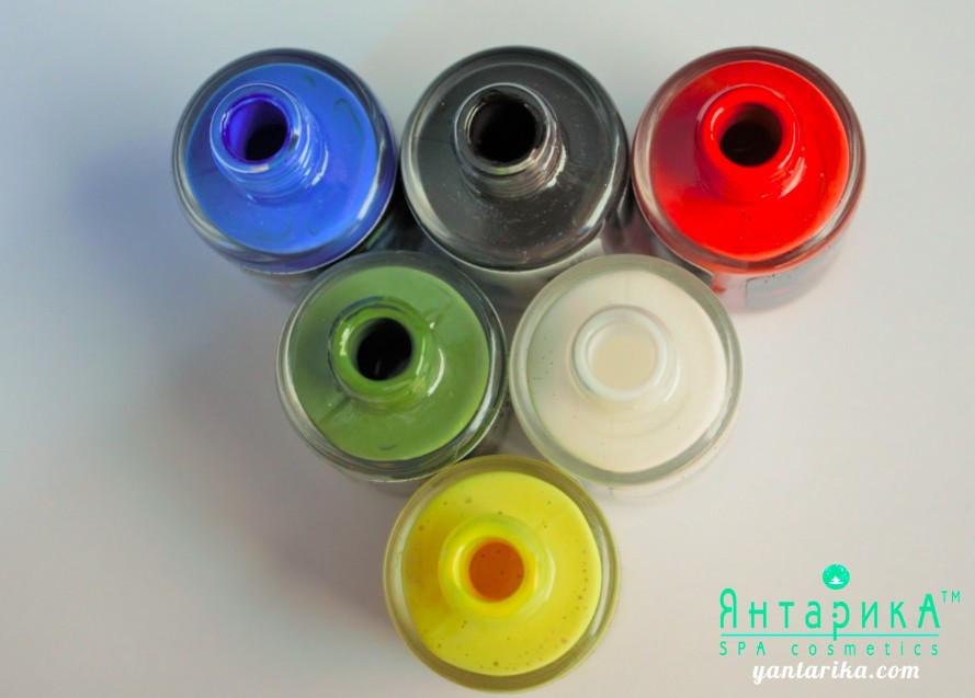 Набор из 6 цветов клея для тела и фольги от ТМ Янтарика, 10мл