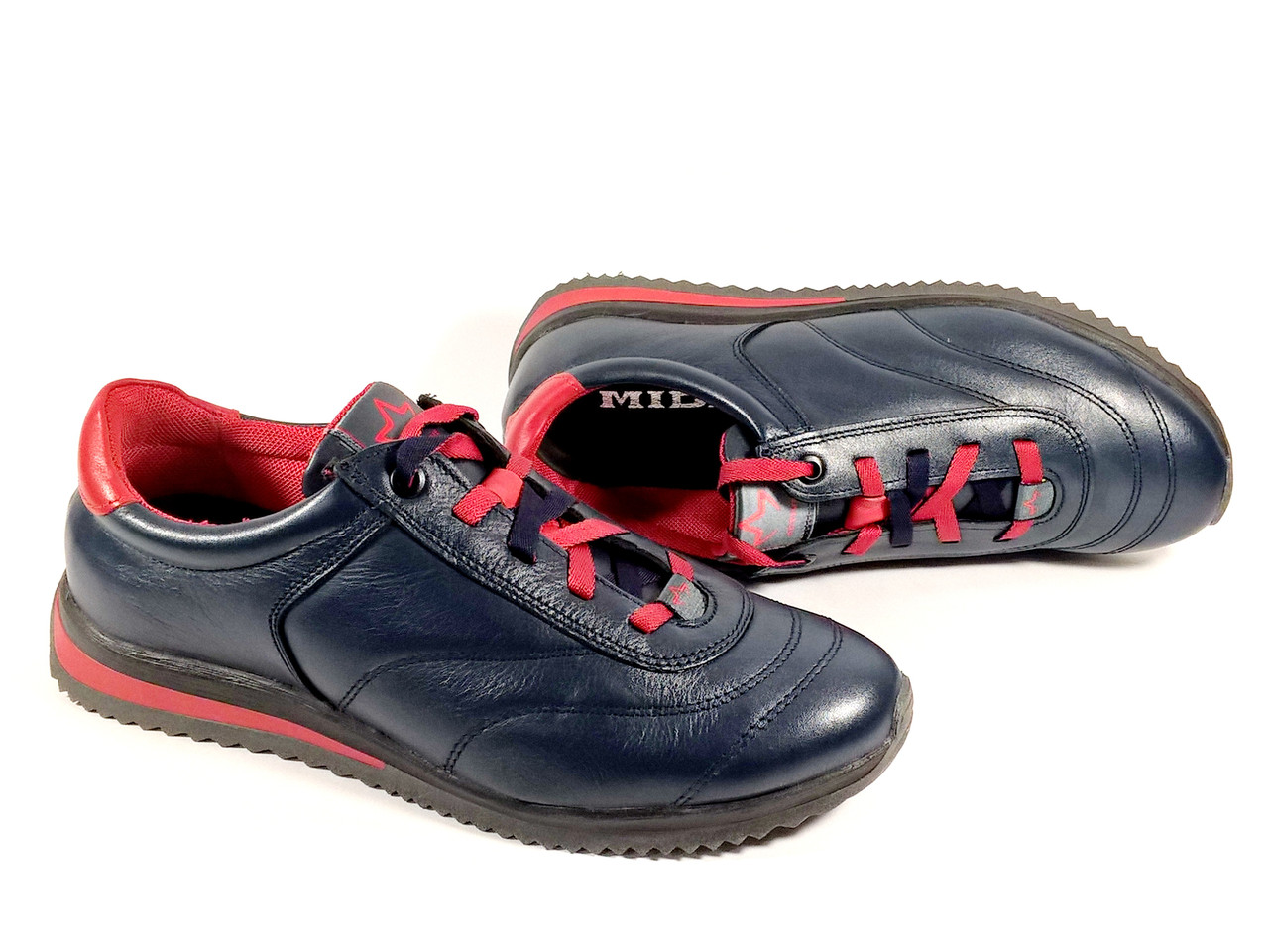 bff2ae46 Детские кроссовки Мида 31261 синие, натуральная кожа - интернет-магазин