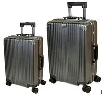 Комплект дорожных чемоданов из поликарбоната 2в1 (72л + 40л) F02 Бронза
