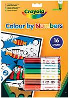 Книга-раскраска Crayola по номерам с фломастерами (7321)