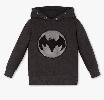Толстовка для мальчика с пайетками перевертышами Бэтмен C&A Германия Размер 140