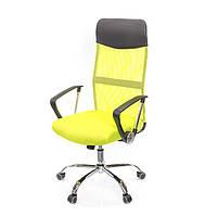 Кресло офисное Гилмор СН TILT лаймового цвета из ткани