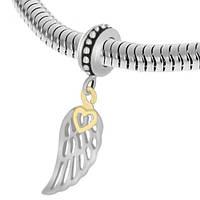 Намистина Pandora крило із серцем зі сталі 129705