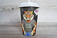 Бумажный стаканчик Zoo Party 500 мл. 50шт/уп. кр 90  (20/1000)