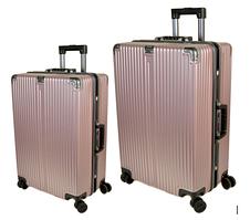 Комплект дорожных чемоданов из поликарбоната 2в1 (72л + 40л) F02 Розовый