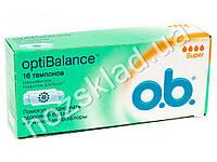 "Тампоны O.b. ""Opti Balance Super"" 4* 16шт АКЦИЯ -15%"