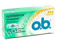 "Тампоны O.b. ""Opti Balance Normal"" 3* 16шт АКЦИЯ -15%"