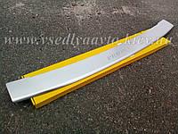 Накладка на бампер с загибом Лада Приора универсал 2009-