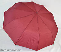 """Однотонный зонт полуавтомат на 10 карбоновых спиц от фирмы """"Feeling Rain""""."""