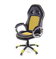 Кресло компьютерное Блиц PL TILT чёрно-жёлтого цвета из экокожи