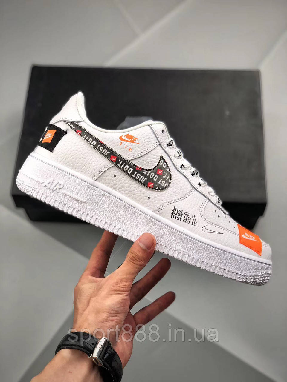 """e934f80f Nike Air Force 1 '07 PRM """"Just Do It"""