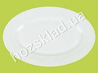 """Блюдо овальное стеклокерамическое белое 12"""" (30.5см)"""