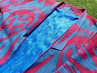 Хлопковое летнее пальто из иката ручного ткачества. Маргилан, Узбекистан