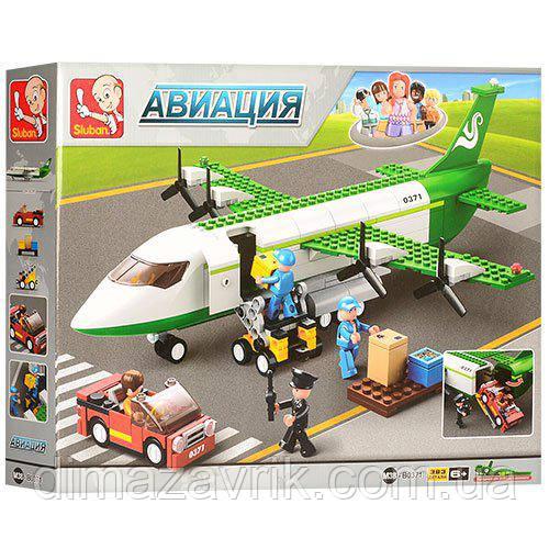 """Конструктор SLUBANM38-B0371 """"Грузовой самолет"""" 383 деталей"""