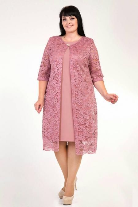 Платье костюм большие размеры м348