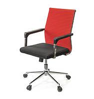 Кресло офисное Бруно СН TILT красного цвета из ткани