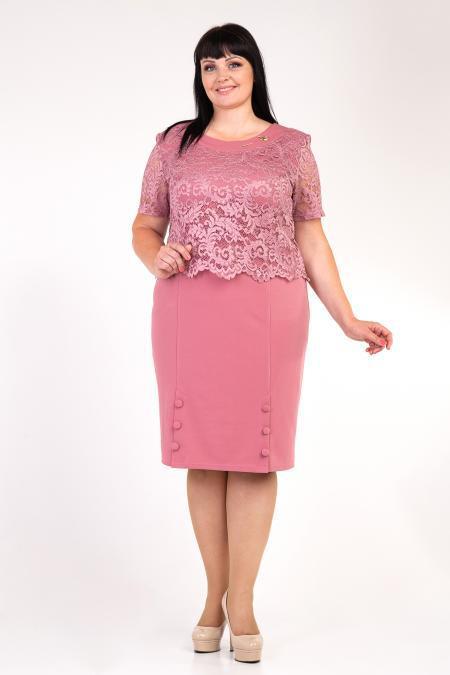 Нарядное платье для полных женщин м308-8