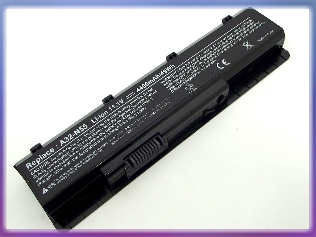 Батарея ASUS (A32-N55) N75 (10.8V 4400mAh). Black