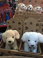 Плюшевый щенок маленький, мягкая игрушка щенок, тявкающий щенок, плюшевая собачка, плюшевая собака, игрушка, фото 1