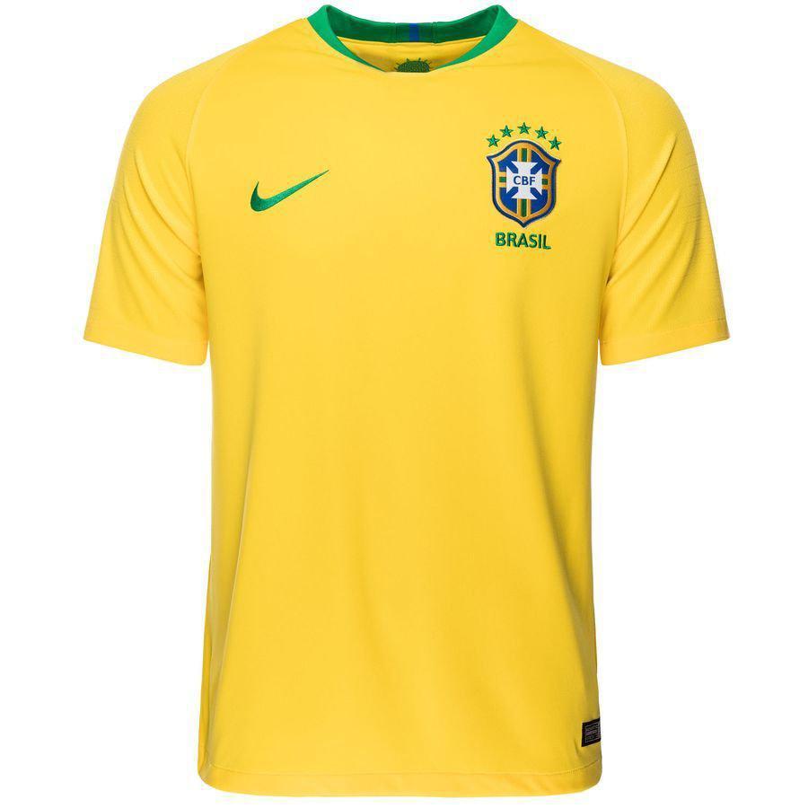 Детская футбольная форма БРАЗИЛИЯ (основная к ЧМ 2018) футболка+шорты