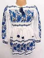 Платье с вышивкой вязаное