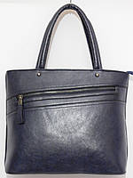 Женская сумка конусная змейка цвет темно-синий, фото 1