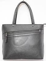 Женская сумка конусная змейка цвет серый