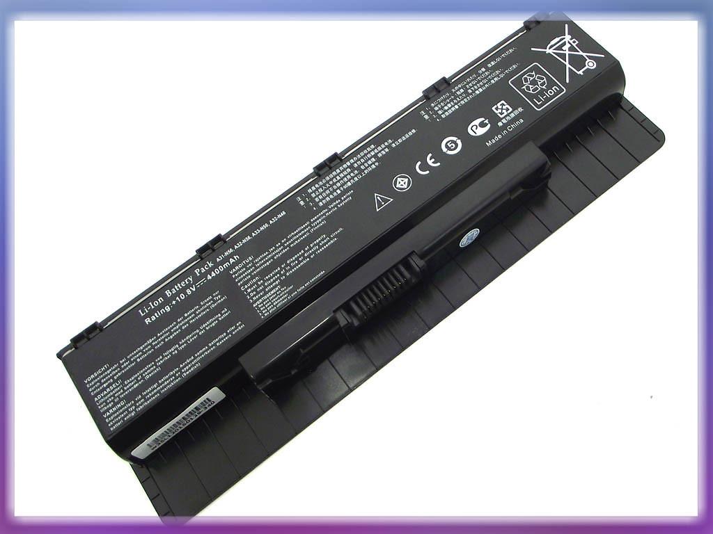 Аккумулятор ASUS (A32-N56, A31-N56) N56VZ (10.8V 4400mAh). Black.