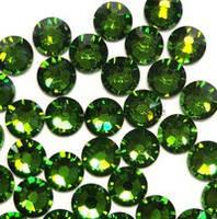 Камни кристалл Сваровски зеленый отлив Ss3, 1440шт